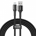 Baseus Halo Data Cable podświetlany nylonowy kabel USB iPhone Lightning z diodą LED 1.5A  2m  BLACK