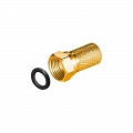 F connector screw-on 7mm GOLD